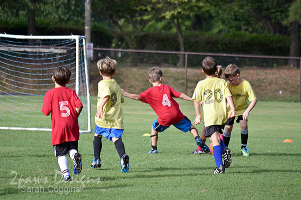 Soccer game: offense