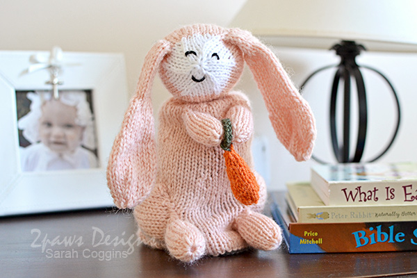 Topsy-Turvy Bunny and Lamb Knitted Toy