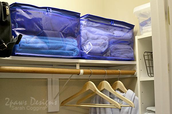 Guest Room Linen Organization