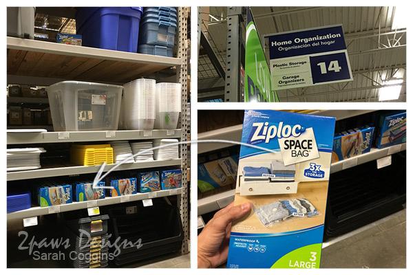 Ziploc® Storage Bags at Lowe's #ad #OrganizeWithSpaceBags