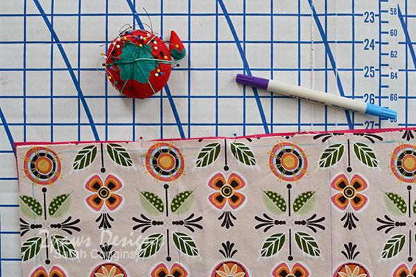 Baby Doll Changing Pad Tutorial: Align Fabrics