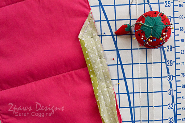 Baby Doll Changing Pad Tutorial: Pin Binding