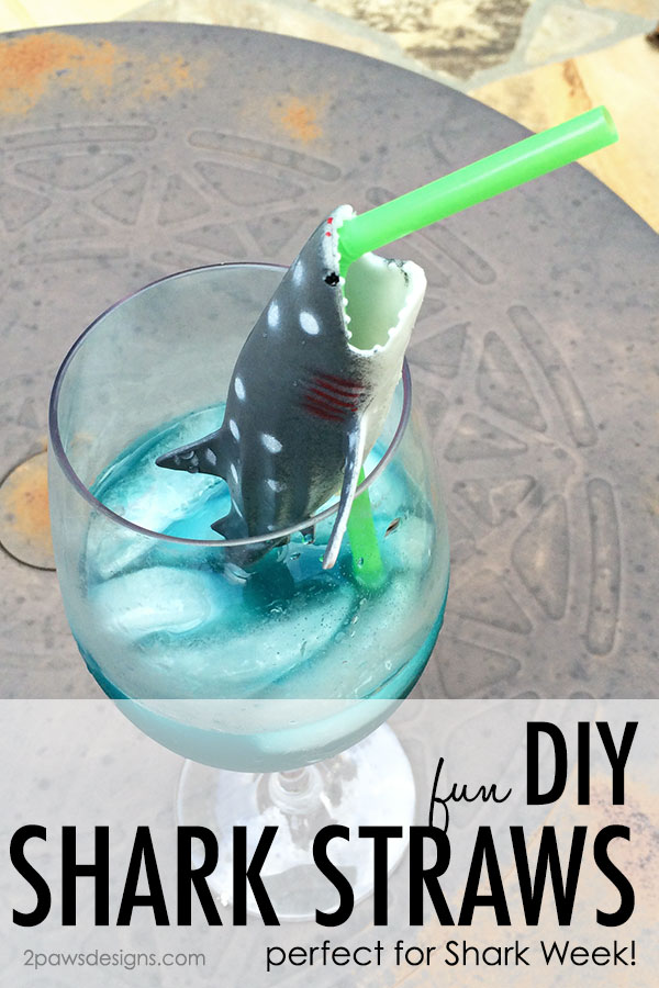 DIY Shark Straws Tutorial