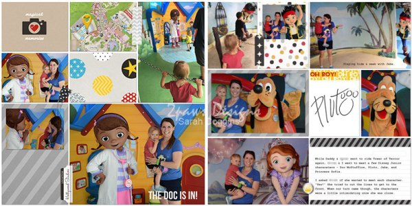 Hollywood Studios: Disney Junior Characters digital scrapbook page