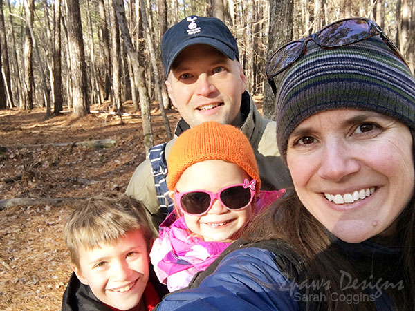 Umstead State Park: Family Selfie - February 2018