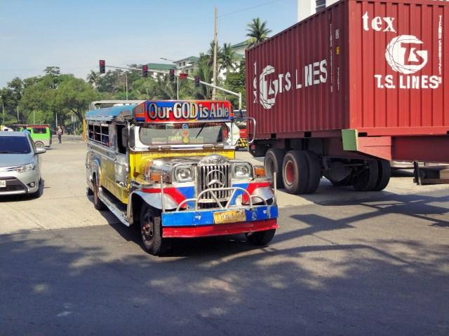 Multi-colored jeepney!