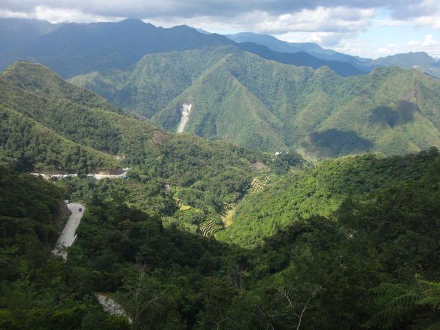 The long road down to Batad.