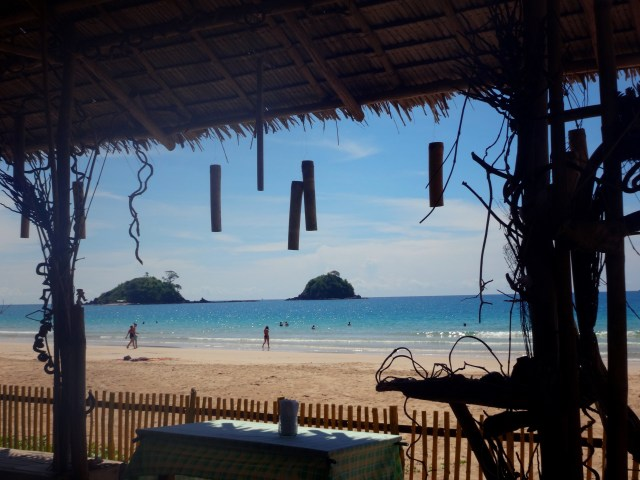 View from one of the beachside cafes at Nacpan Beach.