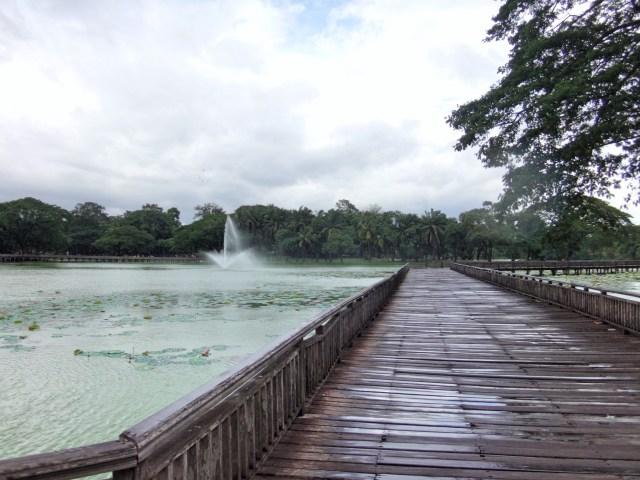Boardwalk at Kandawgyi Lake.