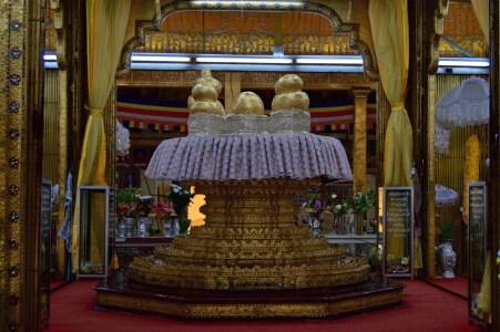 Buddha images.
