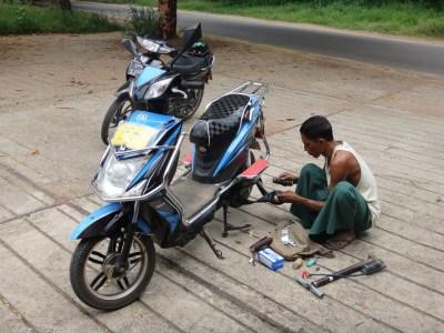 Super efficient repair man.