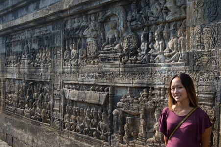 Relief carvings.