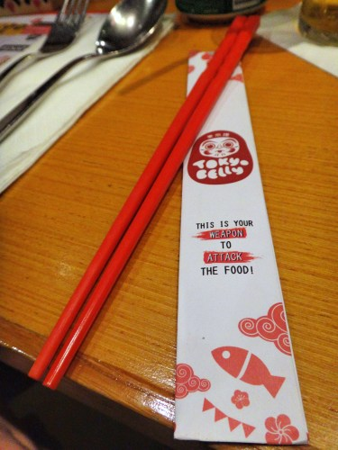 Very cute chopsticks.