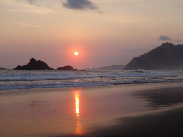 Sunset at Sukamade.