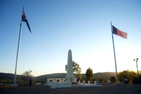 The memorial on ANZAC Hill.