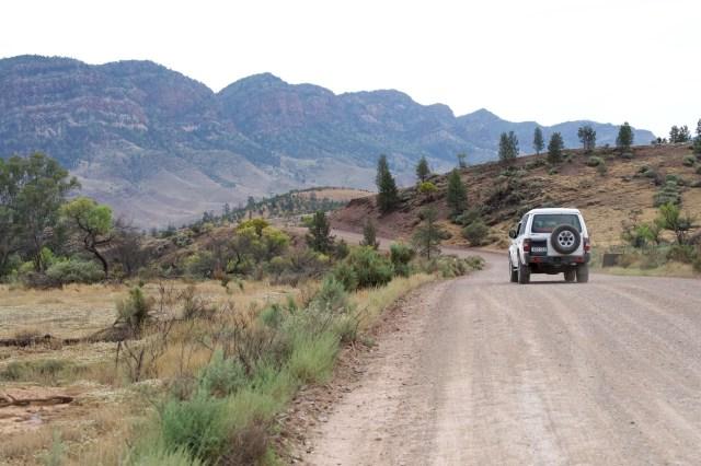 The Bunyeroo Gorge scenic drive.