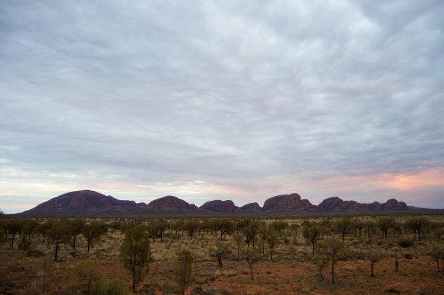 Sunset over Kata Tjuta.