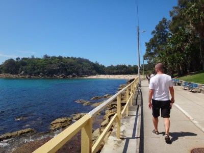 Walking up the Manly Coast.