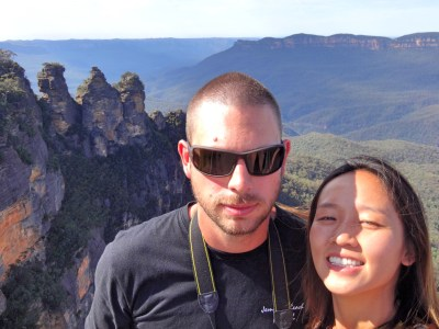 Selfie at the Three Sisters.