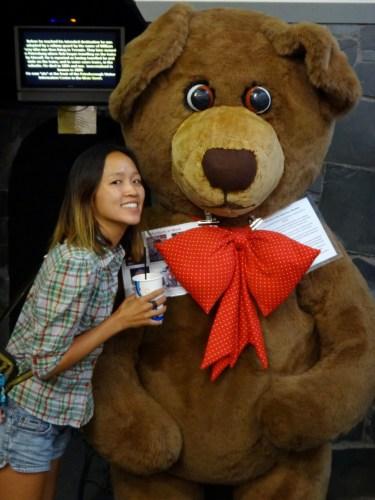 Murdoch the giant teddy bear.