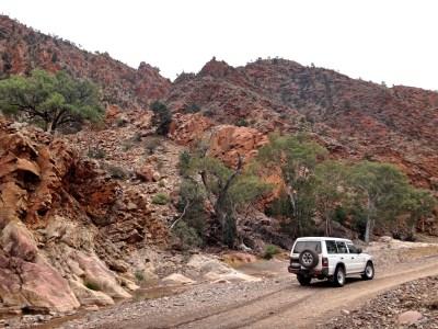 The Brachina Gorge geological trail.