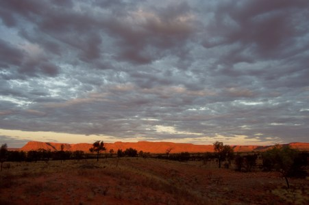 Sunset over Kings Canyon.
