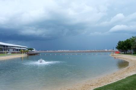 The lagoon.