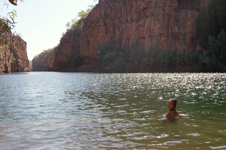 Swimming in Butterfly Gorge.