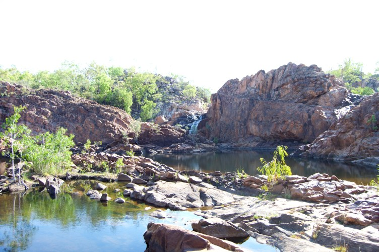 The top of Edith Falls.