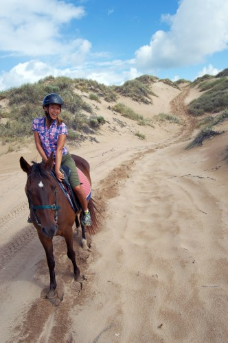 About to go for a beach gallop!