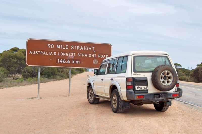 Australia's longest straight road.