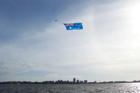 Patriotic airshow.