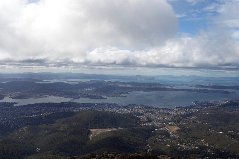 The view from Mount Wellington.