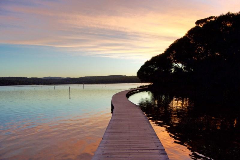 Boardwalk sunset.