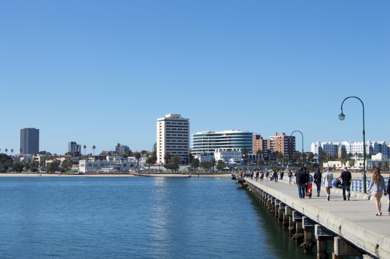 View of St. Kilda from the pier.