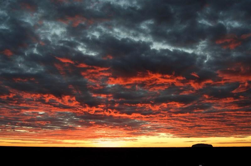 Spectacular sunrise.