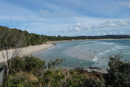 Views of Byron Bay.