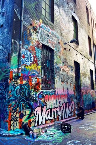 Street art in progress.