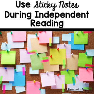 Sticky Notes + Reading Material = Increased Comprehension