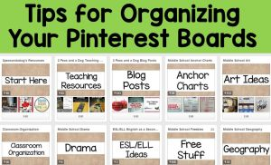 Tips for Organizing Your Pinterest Boards