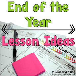 End of the Year Activities and Lesson Ideas