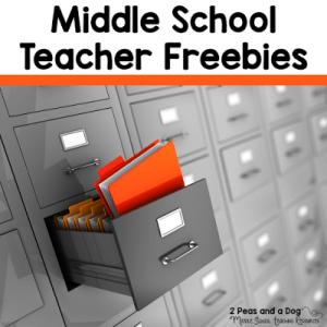 Middle School Collaborative Freebies Pinterest Board