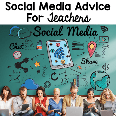 Social media advice for teachers. Teachers are public figures. We might not be on the covers of magazines, but our private lives are definitely topics of discussion in the media. 8 tips to help teachers maintain professionalism online at all times from the 2 Peas and a Dog blog.