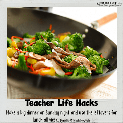 Teacher Life Hack - Teachers make large dinners and reuse the left overs for lunch. Save time and money!