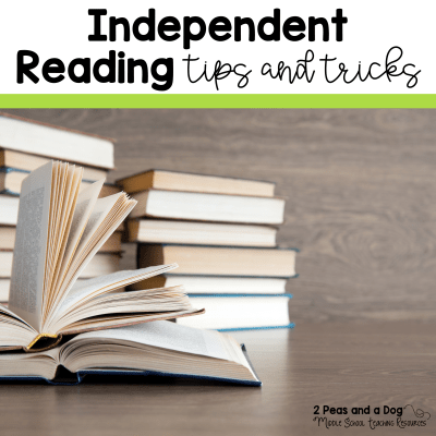 Independent reading is very important. Helping students become good independent readers is not a quick task. It requires time, patience and effort. Read about the great ideas shared by other teachers on how they keep students engaged during independent reading as well as their reading assessment ideas from 2 Peas and a Dog. #independentreading #bookclubs #middleschool #reading #choicereading