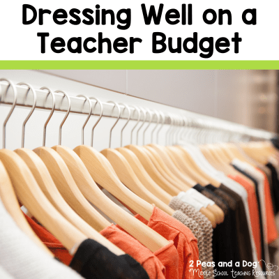 Teacher fashion tips for stylish teachers. 10 tips for dressing well on a teacher budget from 2 Peas and a Dog. #teacherfashion #teachers #teacherlife #fashion #clothing
