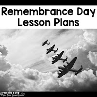 A week of Remembrance Day lesson plans for middle and high school students from the 2 Peas and a Dog blog.