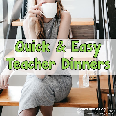 Somedays I just don't have the energy to make a real dinner for myself. I compiled a list of my quick and easy dinner ideas for when you have one of THOSE days. Quick and easy meal ideas from the 2 Peas and a Dog blog.