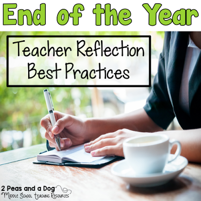 The end of the year is a great time to reflect on the past year's successes and challenges. Use these reflections to help plan out changes for your future classes. Includes a FREE graphic organizer to help teachers reflect on their school year from the 2 Peas and a Dog blog.