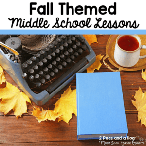 Fall Themed Middle School Lessons